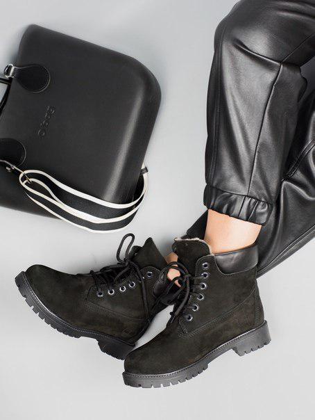 Жіночі черевики Timberland black ВОДОВІДШТОВХУВАЛЬНІ