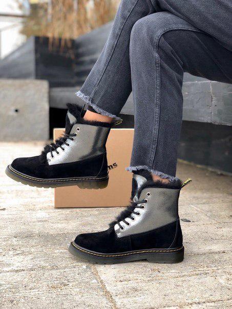 Стильные женские ботинки Dr. Martens из замша