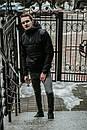 Мужская ветровка анорак  весна / осень Intruder Hypnotic (черный), фото 3