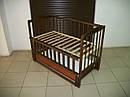 Акция!!! Детская кроватка маятник Малыш+ на подшипниках темная. Отличное качество., фото 4