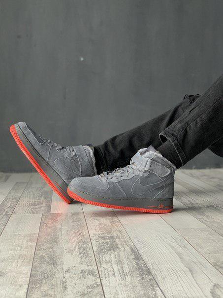 Мужские кроссовки Nike Air Force из натурального замша