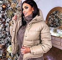 Куртка екошкіра, куртка екокожа жіночий Бежевий, фото 1