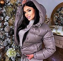 Куртка екошкіра, куртка екокожа жіноча Сірий