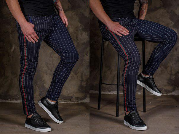 Мужские стильные штаны с лампасами, 10 моделей