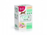 Optimeal (Оптимил) пауч для кошек с кроликом в белом соусе 85гр Набор (3+1) 340 г