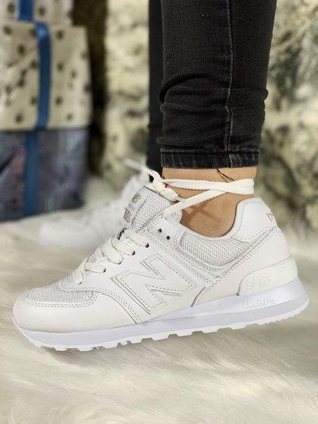 Жіночі білі кросівки New Balance 574
