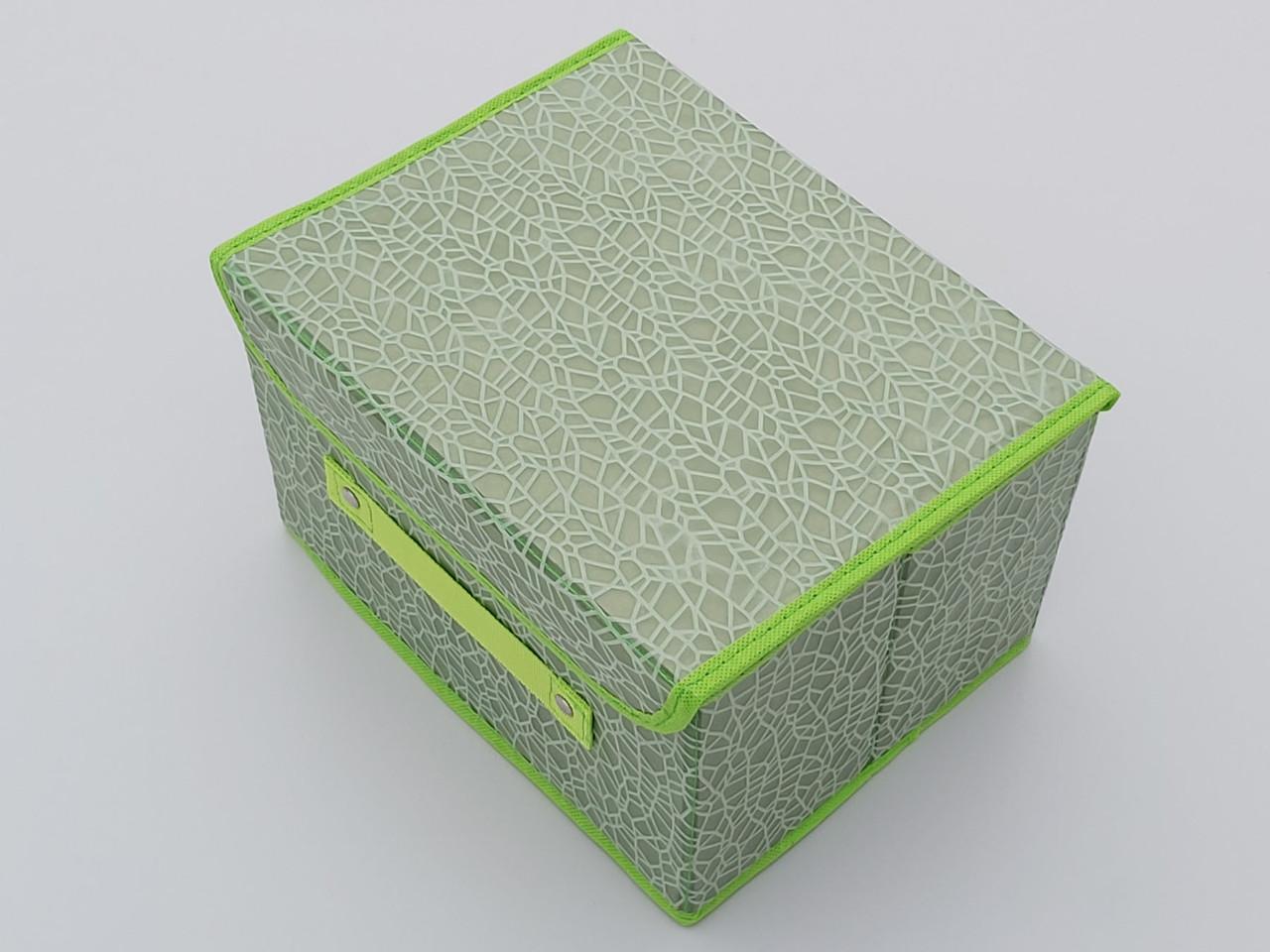 Коробка органайзер для зберігання салатового кольору
