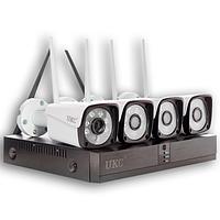 Комплект видеонаблюдения WI FI с 4-мя камерами высокого разрешения PRO VISION UKC, готовый набор 8004 / 6673