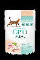 Optimeal (Оптимил) пауч для кошек с кроликом в белом соусе 85гр*12шт.
