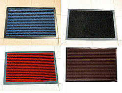 Придверный грязезащитный коврик на резиновой основе с окантовкой Condor Entree