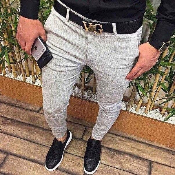 Мужские узкие коттоновые брюки, Турция