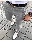 Мужские узкие коттоновые брюки, Турция, фото 3