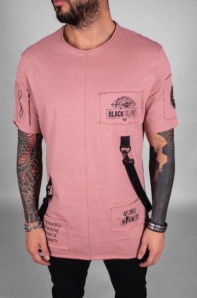 Мужская футболка удлиненная (4 цвета)