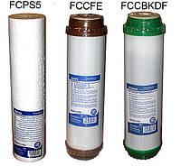 Комплект сменных картриджей для фильтров воды 3шт №6