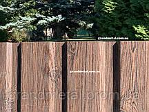 Профнастил под ДЕРЕВО купить Киев ,забор под дерево,профнастил Орех с сучком