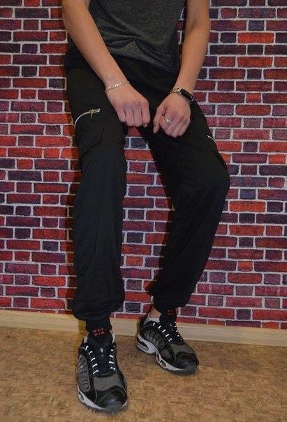 Спортивні чоловічі штани на манжеті (два кольори)