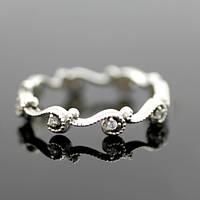 """Серебряное обручальное кольцо """"Венок"""" с камнями от WickerRing"""