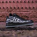 Чоловічі шкіряні кросівки Nike Air Force Skeleton QS black, фото 2