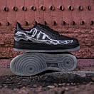 Чоловічі шкіряні кросівки Nike Air Force Skeleton QS black, фото 3