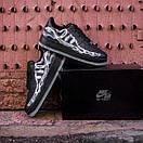 Чоловічі шкіряні кросівки Nike Air Force Skeleton QS black, фото 5