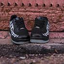 Чоловічі шкіряні кросівки Nike Air Force Skeleton QS black, фото 6