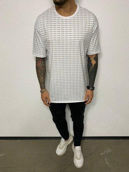 Чоловіча подовжена футболка оверсайз, (2 кольори)