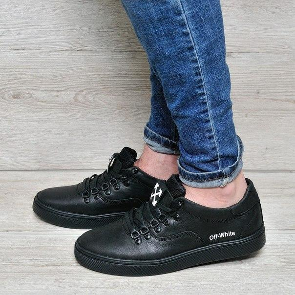 Мужские кожаные туфли Off White