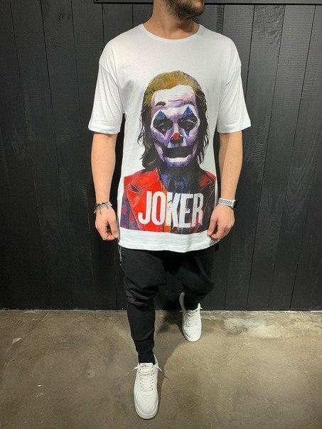 Подовжена чоловіча футболка Joker, (2 кольори)