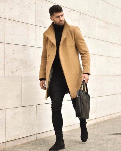 Пальто весняне чоловіче з кашеміру, два кольори