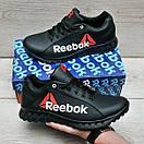 Чорні шкіряні кросівки Reebok, фото 2