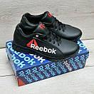 Чорні шкіряні кросівки Reebok, фото 3