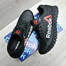 Чорні шкіряні кросівки Reebok, фото 5