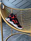 Чоловічі стильні кросівки Nike Air Barrage Mid QS University Black Red White, фото 7