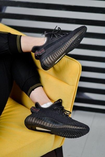 Кроссовки женские Adidas Yezzy Boost из текстиля