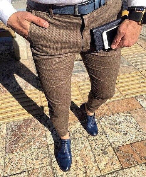 Чоловічі штани, колір капучіно