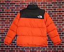 Мужской пуховик Supreme x The North Face Nuptse 700 Orange, до -20, фото 3