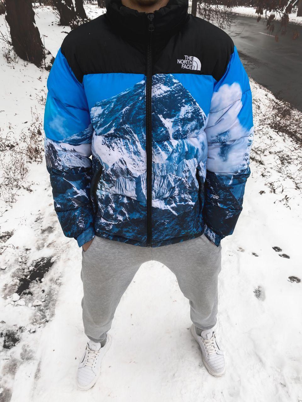 Пуховик чоловічий Supreme x The North Face Nuptse 700 Mountain