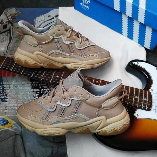 Чоловічі шкіряні кросівки Adidas з амортизацією Adiprene, два кольори