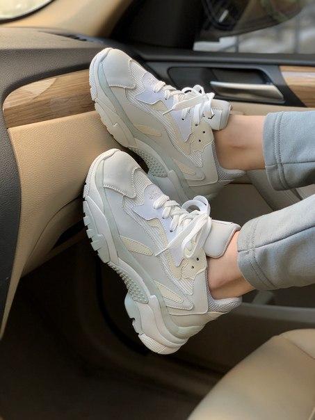 Жіночі кросівки Ash grey з натуральної шкіри
