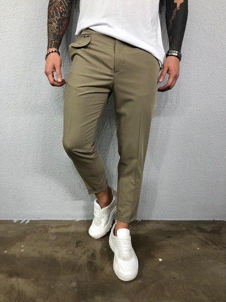 Чоловічі літні завужені брюки, два кольори
