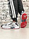 Мужские черно-белые кроссовки Reebok амортизирующая подошва DMX, фото 4