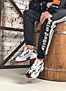 Чоловічі чорно-білі кросівки Reebok амортизуюча підошва DMX, фото 5