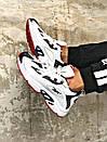 Чоловічі чорно-білі кросівки Reebok амортизуюча підошва DMX, фото 6