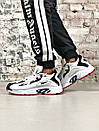 Чоловічі чорно-білі кросівки Reebok амортизуюча підошва DMX, фото 8