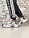 Мужские черно-белые кроссовки Reebok амортизирующая подошва DMX, фото 8