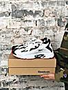 Чоловічі чорно-білі кросівки Reebok амортизуюча підошва DMX, фото 10