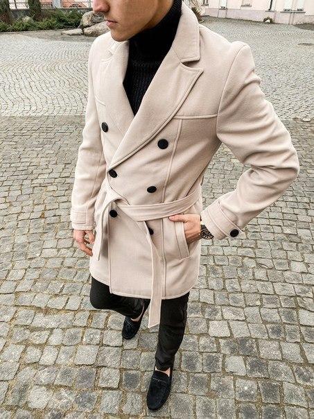 """Двубортное мужское пальто-тренч Pobedov Trench Coat """"President""""(2 цвета)"""