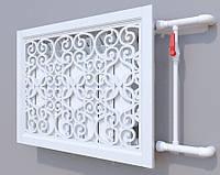 Декоративная решетка на батарею SMARTWOOD   Экран для радиатора   Накладка на батарею 600*600 Решетка,