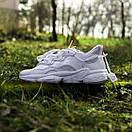 Білі кросівки Adidas Ozweego White з еко-шкіри, фото 5