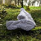 Білі кросівки Adidas Ozweego White з еко-шкіри, фото 6